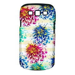 Colorful Dahlias Samsung Galaxy S Iii Classic Hardshell Case (pc+silicone) by DanaeStudio