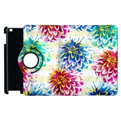 Colorful Dahlias Apple iPad 2 Flip 360 Case