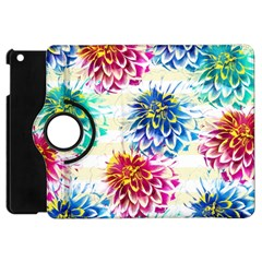 Colorful Dahlias Apple iPad Mini Flip 360 Case
