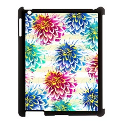 Colorful Dahlias Apple iPad 3/4 Case (Black)