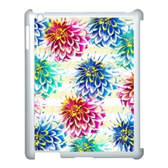 Colorful Dahlias Apple iPad 3/4 Case (White)