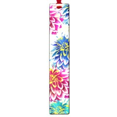 Colorful Dahlias Large Book Marks by DanaeStudio
