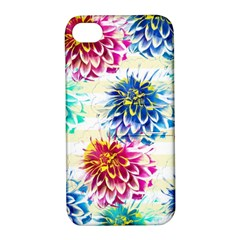 Colorful Dahlias Apple iPhone 4/4S Hardshell Case with Stand