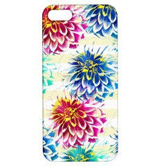 Colorful Dahlias Apple iPhone 5 Hardshell Case with Stand