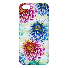 Colorful Dahlias Apple Iphone 5 Premium Hardshell Case by DanaeStudio