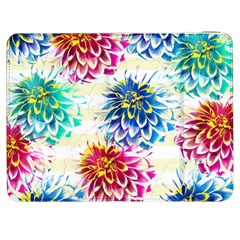 Colorful Dahlias Samsung Galaxy Tab 7  P1000 Flip Case by DanaeStudio