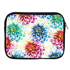 Colorful Dahlias Apple iPad 2/3/4 Zipper Cases