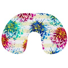 Colorful Dahlias Travel Neck Pillows