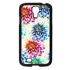 Colorful Dahlias Samsung Galaxy S4 I9500/ I9505 Case (black) by DanaeStudio