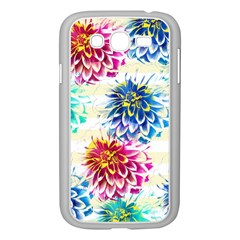 Colorful Dahlias Samsung Galaxy Grand DUOS I9082 Case (White)
