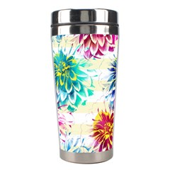 Colorful Dahlias Stainless Steel Travel Tumblers