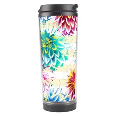 Colorful Dahlias Travel Tumbler
