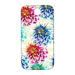 Colorful Dahlias Samsung Galaxy S4 I9500/I9505  Hardshell Back Case