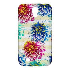 Colorful Dahlias Samsung Galaxy Mega 6 3  I9200 Hardshell Case by DanaeStudio