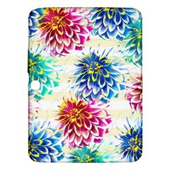 Colorful Dahlias Samsung Galaxy Tab 3 (10.1 ) P5200 Hardshell Case