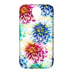 Colorful Dahlias Samsung Galaxy S4 Classic Hardshell Case (pc+silicone) by DanaeStudio