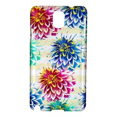 Colorful Dahlias Samsung Galaxy Note 3 N9005 Hardshell Case by DanaeStudio