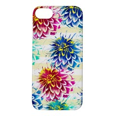 Colorful Dahlias Apple iPhone 5S/ SE Hardshell Case