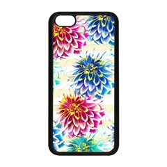 Colorful Dahlias Apple iPhone 5C Seamless Case (Black)