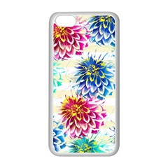 Colorful Dahlias Apple Iphone 5c Seamless Case (white) by DanaeStudio