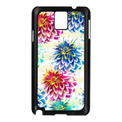 Colorful Dahlias Samsung Galaxy Note 3 N9005 Case (Black)