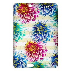 Colorful Dahlias Amazon Kindle Fire Hd (2013) Hardshell Case by DanaeStudio