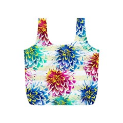 Colorful Dahlias Full Print Recycle Bags (s)  by DanaeStudio