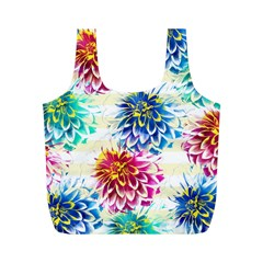 Colorful Dahlias Full Print Recycle Bags (M)