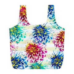 Colorful Dahlias Full Print Recycle Bags (l)  by DanaeStudio