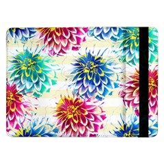 Colorful Dahlias Samsung Galaxy Tab Pro 12.2  Flip Case