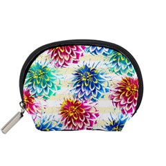 Colorful Dahlias Accessory Pouches (Small)