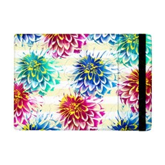 Colorful Dahlias iPad Mini 2 Flip Cases