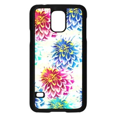 Colorful Dahlias Samsung Galaxy S5 Case (Black)