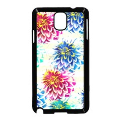 Colorful Dahlias Samsung Galaxy Note 3 Neo Hardshell Case (black) by DanaeStudio
