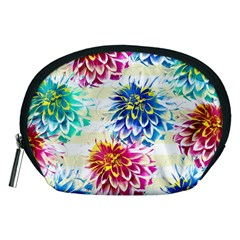 Colorful Dahlias Accessory Pouches (Medium)