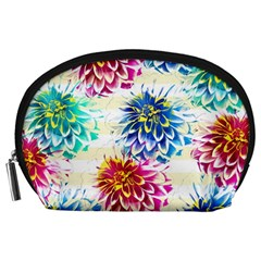 Colorful Dahlias Accessory Pouches (Large)