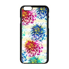 Colorful Dahlias Apple iPhone 6/6S Black Enamel Case