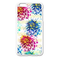 Colorful Dahlias Apple iPhone 6 Plus/6S Plus Enamel White Case