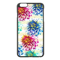 Colorful Dahlias Apple iPhone 6 Plus/6S Plus Black Enamel Case