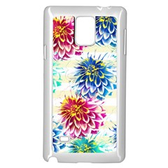 Colorful Dahlias Samsung Galaxy Note 4 Case (White)