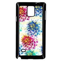Colorful Dahlias Samsung Galaxy Note 4 Case (Black)