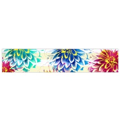 Colorful Dahlias Flano Scarf (Small)