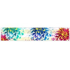 Colorful Dahlias Flano Scarf (Large)