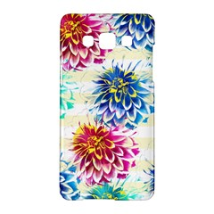 Colorful Dahlias Samsung Galaxy A5 Hardshell Case  by DanaeStudio