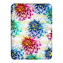 Colorful Dahlias Samsung Galaxy Tab 4 (10 1 ) Hardshell Case  by DanaeStudio