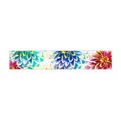 Colorful Dahlias Flano Scarf (Mini)