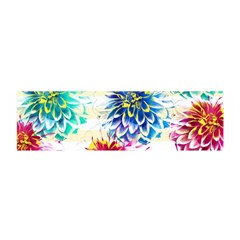 Colorful Dahlias Satin Scarf (Oblong)