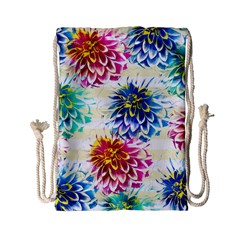 Colorful Dahlias Drawstring Bag (Small)