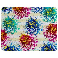 Colorful Dahlias Jigsaw Puzzle Photo Stand (Rectangular)
