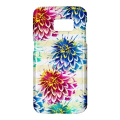 Colorful Dahlias Samsung Galaxy S7 Hardshell Case